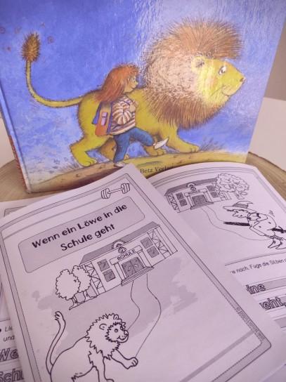 """Unterrichtsmaterial """"Wenn ein Löwe in die Schule geht"""" Faltheft"""