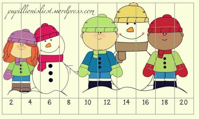 Mathepuzzle Winter