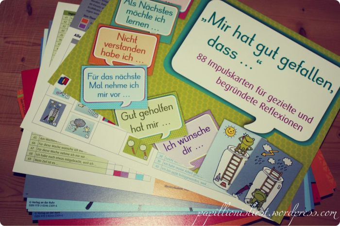 Mir hat gut gefallen, dass ... Reflexionskarten
