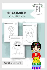 Frida Kahlo_Ausmalbilder