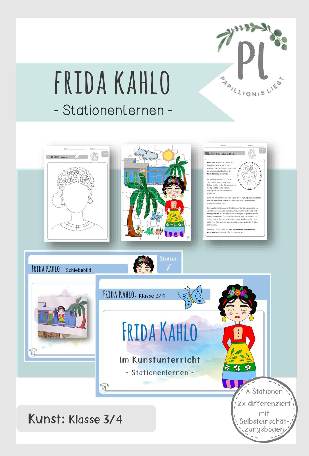 Frida Kahlo_Stationenlernen