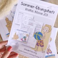 Sommerferien-Übungsheft Deutsch und Mathe Klasse 2 | Fit in die 3. Klasse