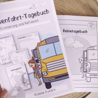 Klassenfahrt - Reisetagebuch für die Grundschule